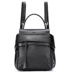 4f749f9847b Tod s Stitch-Detailed Double T Leather Messenger Bag   Products in ...