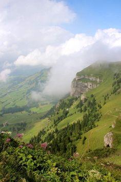 View from Mt Hoher Kasten, Switzerland