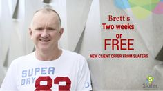 "Special New Client Offer from Brett Slater   ""We'll do your financials/tax returns in 2 weeks. If we can't, we'll do them for FREE.""   Brett Slater, Nov 2015 - http://slater.co.nz/blogs/slater-chartered-accountants/53357825-special-new-client-offer-from-brett-slater"