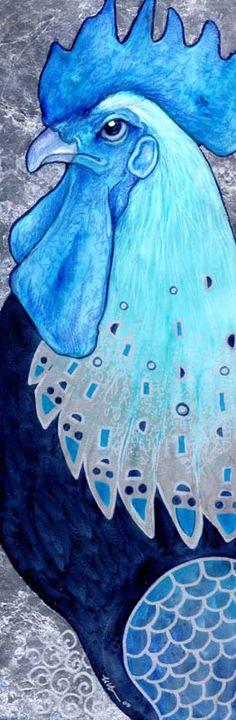 Klimt's Rooster II by ursulav.deviantart.com