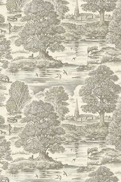 Discover hundreds of wallpaper ideas on HOUSE - design, food and travel by House & Garden including Royal Oak by Lewis & Wood