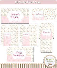 Artes Kit Toalete Rosa Floral <br>O kit cont�m: <br>* Envelope para absorvente �ntimo