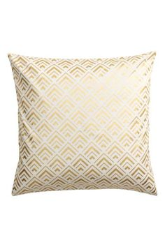Patterned cushion cover: Cushion cover in cotton twill with a shimmering print pattern and a concealed zip.