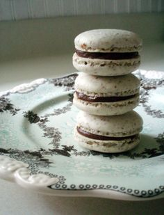 Vanilla Macaroons with Toblerone Creme filling