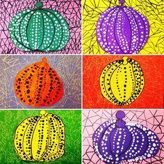 candice ashment art: Get your Yayoi Kusama polka dot Pumpkin Kindergarten Art Lessons, Art Lessons For Kids, Art Lessons Elementary, Yayoi Kusama Pumpkin, October Art, First Grade Art, Fall Art Projects, Pumpkin Art, Ecole Art