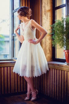 a short wedding dress! The Chelsea Bridal Collection by Vintage Atelier designed by Nafisa Nuri