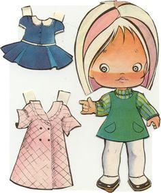 (⑅ ॣ•͈ᴗ•͈ ॣ)                                                               ✄Las muñecas Recortables