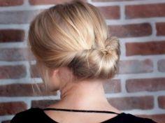 Tuto joli chignon sur cheveux mi-longs, ou longs