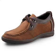 2015 Autumn brown suede height increasing casual shoes get taller 6.5cm / 2.56inch