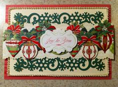 New AG Christmas perfect palette card set w/ c Border stickers
