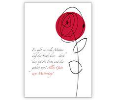 Rosen Blumengruß Klappkarte zum Muttertag - http://www.1agrusskarten.de/shop/rosen-blumengrus-klappkarte-zum-muttertag/