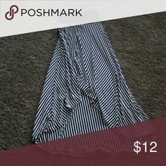 High / low skirt Sharp black & white high/low skirt with flattering black around the waist. Poetry Skirts High Low