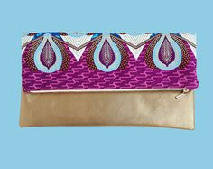 Items similar to Fold over clutch purse in the Color of Your Choice on Etsy