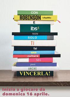 #VINCECHILEGGE, il nuovo concorso organizzato da #Robinson e #IBS sull'inserto della domenica de #laRepubblica!  Leggete, rispondete alle domande e vincete uno dei moltissimi premi in buoni sconto da usate su ibs.it! 😍📚#RobinsonRepubblica #VinceChiLegge