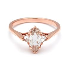 Image result for marquise diamond ring in rose gold