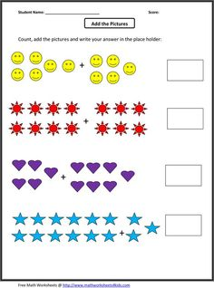 grade 1 addition math worksheets | First Grade Math Worksheets: