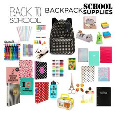 """#back2school"" by molleighderp ❤ liked on Polyvore featuring Valentino, Gund, Lilly Pulitzer, Paper Mate, Sharpie, Kate Spade, Post-It, Victoria's Secret PINK, BackToSchool and inmybackpack"
