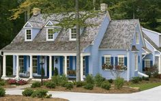10 Exterior Paint Colors We Love: Robin's Egg Blue and White Exterior Colors