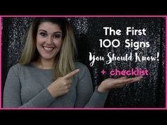 The First 100 Signs You Need to Know - Rochelle Barlow