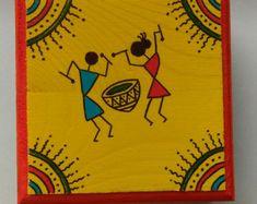 Warli Art Warli prints indian folk art prints home decor Worli Painting, Fabric Painting, Buddha Painting, Madhubani Art, Madhubani Painting, Pottery Painting Designs, Paint Designs, African Art Paintings, Art Drawings For Kids
