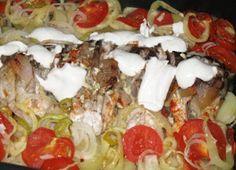 Rácponty Fish Dishes, Hawaiian Pizza, Tube, Food, Meal, Essen, Hoods, Meals, Eten