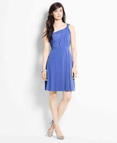 Petite Jersey One Shoulder Bridesmaid Dress | Ann Taylor