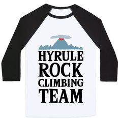 Hyrule Rock Climbing Team - Show off your love of that amazing new Zelda game with this BotW inspired, rock climbing, video game, nerdy fitness shirt! Show off on the climbing wall at the gym with this gamer design!