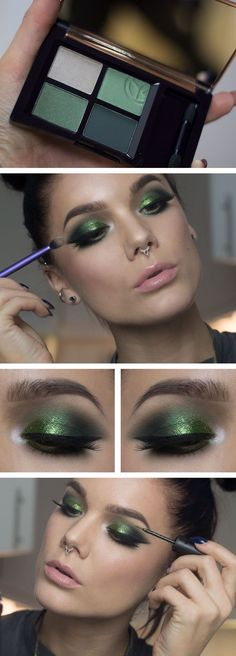 burst-of-green-christmas-makeup-1