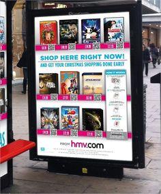 HMV introduce QR codes to shop via bus shelter