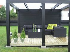 Retro-modern: April 2011 While old in notion, a pergola continues to be enduring a modern Curved Pergola, Deck With Pergola, Pergola Plans, Gazebo, Pergola Kits, Outdoor Rooms, Outdoor Gardens, Outdoor Living, Gardens