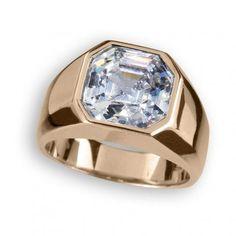 Rose Gold Asscher Cut Ring