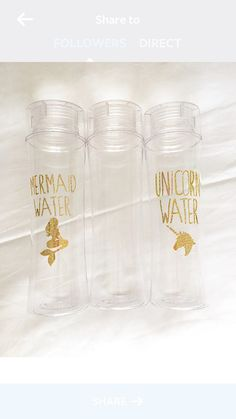Unicorn Water, Mermaid Water, or custom 32 oz BPA free water bottle