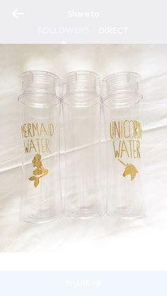 Unicorn Water Mermaid Water or custom 32 oz BPA by FancyItPretty