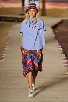 If you like pina coladas and getting caught in a giant tidal pool in the middle of NYFW, you'll like Tommy Hilfiger's Spring collection as the designer brought a little bit of island life to New York. Mustique, meet Manhattan on a Monday.    - HarpersBAZAAR.com