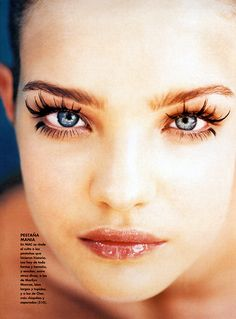 suicideblonde:    Natalia Vodianova photographed by Emanuelle Haughel for Elle Argentina, June 2001    and this is why we want fake lashes…