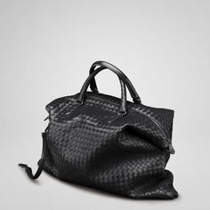 Bottega Veneta  Nero Intreciato Nappa  Convertible Bag
