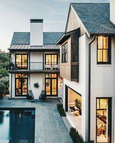 I post Interior Design & Exterior Architecture. Dream Home Design, My Dream Home, Future House, Design Exterior, Modern Exterior, Gray Exterior, Ranch Exterior, Exterior Signage, Craftsman Exterior