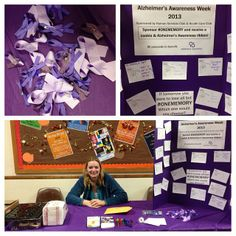 """Human Services Club & Health Care Club are tabling for the Alzheimer's """"Sponser #ONEMEMORY"""" fundraiser. Donate a $1 for a great cause"""