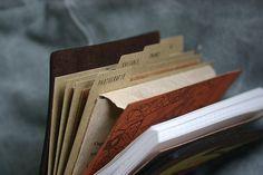 Midori Travelers Notebook. Great Idea.
