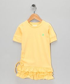 Take a look at this Yellow Organic Drop-Waist Dress - Toddler by Tutu AND Lulu Organics on #zulily today!