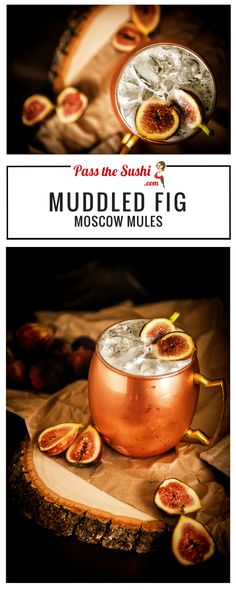 Muddled Fig Moscow Mule | I am OBSESSED with figs! And not wanting any of the…