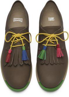 Camper Twins Groen Platte schoenen Dames K200401-001