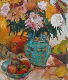 Painting remains the benchmark medium for South African art collectors, with quality works by Irma Stern, J. Flowers In Vase Painting, Abstract Flowers, Painting Still Life, Still Life Art, Art Floral, South Africa Art, African Paintings, Still Life Flowers, South African Artists