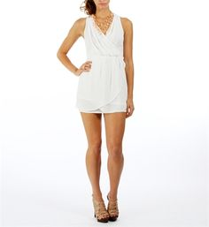 White Crossover Pleated Dresses