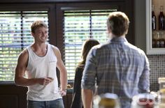 """Hart of Dixie -- """"I Fall to Pieces"""" --  Pictured (L-R): Wilson Bethel as Wade Kinsella, Rachel Bilson as Dr. Zoe Hart, and Scott Porter as George Tucker. Photo: Danny Feld/The CW -- © 2012 The CW Network. All Rights Reserved."""