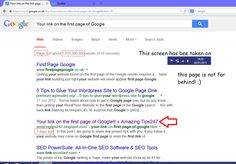 Your link on the first page of Google « Amazing Tips247