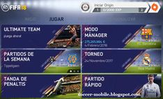Download FIFA 14 Mod v9 Deluxe   FIFA 14 Mod FIFA 18 Android   Soccer Mobile Fifa 17, Ea Fifa, Fc Barcelona, Real Madrid, Fifa Games, Ea Sports, Marketing Software, Soccer Training, 18th