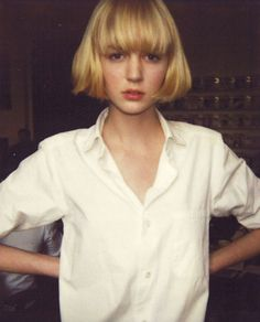#blunt bob with bangs
