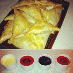 Meat pasties for lunch and Panacotta with different berries on top as dessert. #kenwoodchefsense