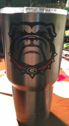 Monogram Georgia Bulldogs Uga Vector Die Cut Files